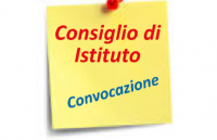CONVOCAZIONE CONSIGLIO DI ISTITUTO DEL 12 MAGGIO 2020