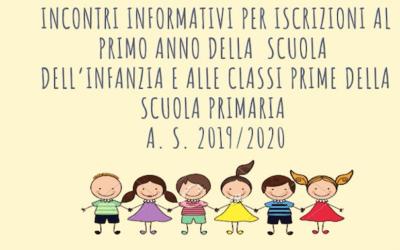 ASSEMBLEA SCUOLA PRIMARIA – ISCRIZIONI Anno Scolastico 2019/2020