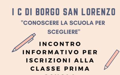 21/12/208 – Incontro informativo per iscrizioni alla classe prima della scuola secondaria di primo grado
