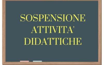 AVVISO DELLA DIRIGENTE SULLA SOSPENSIONE DELLE ATTIVITA' DIDATTICHE