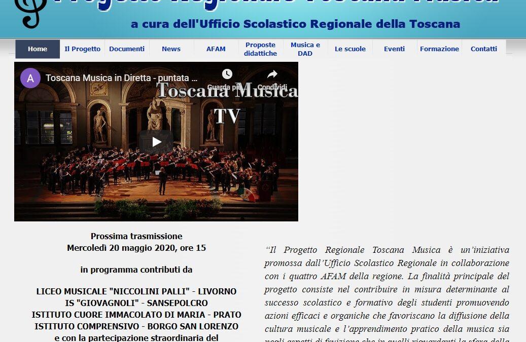L'I.C. Borgo San Lorenzo partecipa al Progetto Regionale Toscana Musica con due video